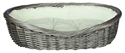 Trixie 28201 Weidenkorb mit Bezug und Kissen, 50 cm, grau