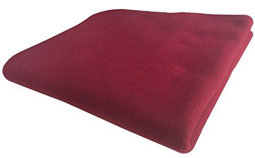 KiGATEX Polar-Fleecedecke - Pflegeleichte Decke für Innen & Außen - Tagesdecke, Sommerdecke, Sofadecke, Kuscheldecke - 130 x 160 cm - Bordeaux