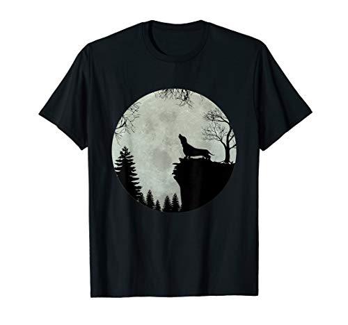 Dackel Dachshund Teckel Jault vor Mond Geschenkidee T-Shirt