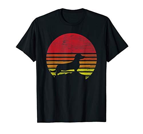 Retro Dackel Silhouette T-Shirt