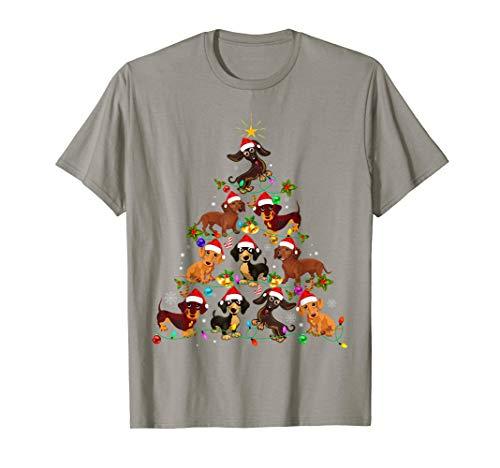 Dackel Dachshund Weihnachten Hundebaum Lustiges Geschenk T-Shirt