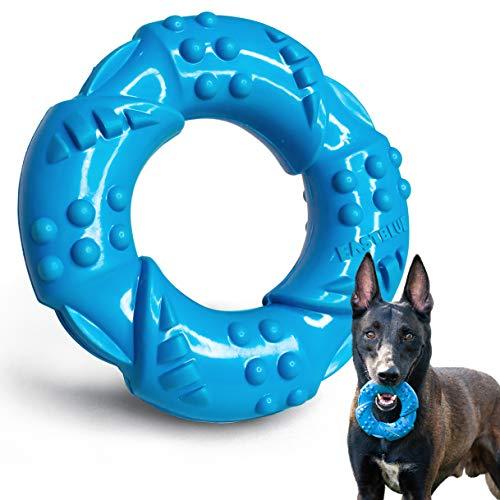 EASTBLUE Hunde-Kauknochen-Spielzeug für Aggressive Kauer: Besonders zäher Naturkautschuk, Welpen Kauspielzeug, langlebig und nahezu unverwüstlich für mittlere und große Rassen